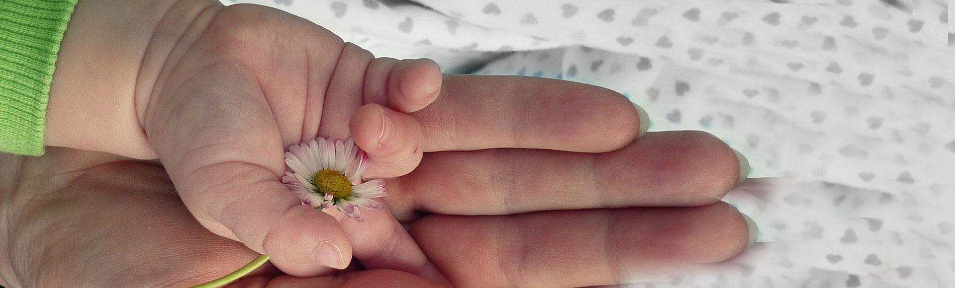Mütter halten die Hände für eine Weile.Ihre Herzen jedoch für immer.